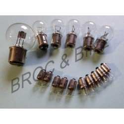 Kit 16 ampoules 6 volts 125 DTMX - 500 XT