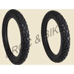 Lot de 2 pneus DURO TRAIL HF333 K550 4.10-18 et 2.75-21 IDEAL 125 DTMX