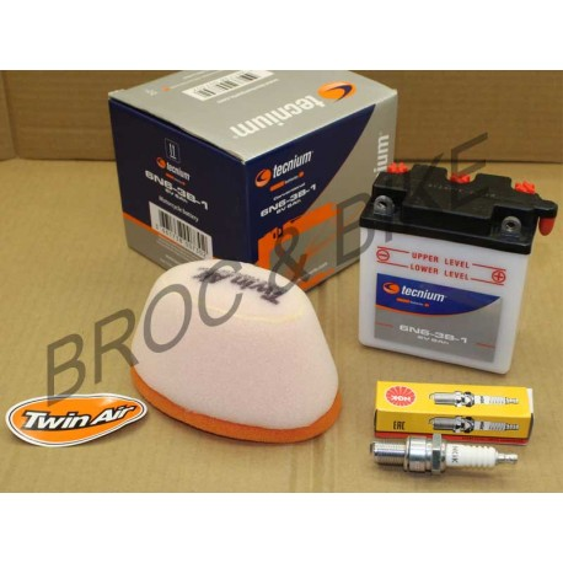 KIT redémarrage 125 DTMX 1977-1979 Filtre bougie batterie