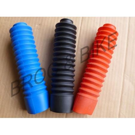 2 Soufflets de fourche 125 DTMX coloris au choix : Noir, Rouge ou Bleu